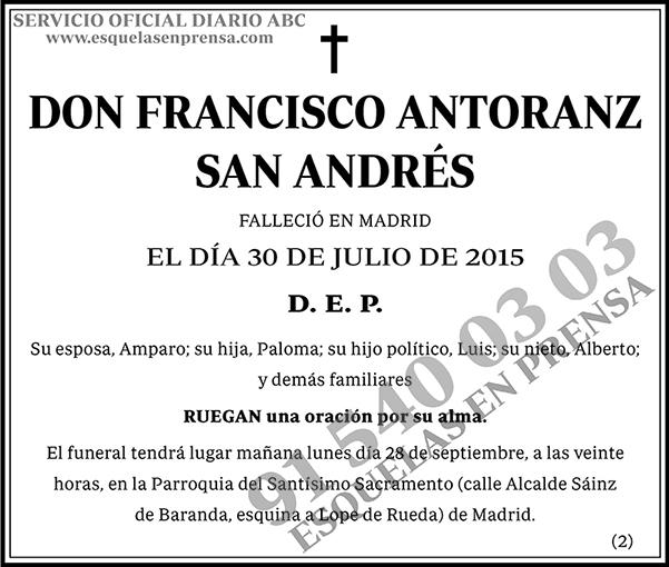 Francisco Antoranz San Andrés
